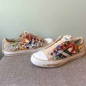 Ed Hardy Slip-On Sneakers